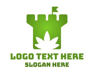 Drugs - Cannabis Castle logo design