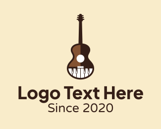 Guitar Lesson - Guitar & Piano Lessons logo design
