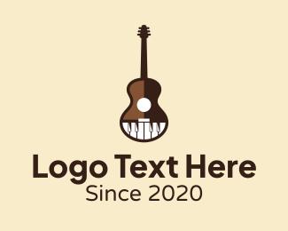 Guitar - Guitar & Piano Music logo design
