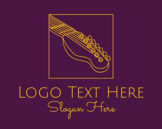 Guitar - Guitar Music Instrument logo design