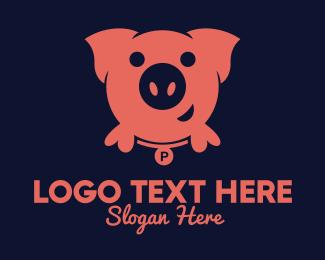Investment - Pink Pig logo design