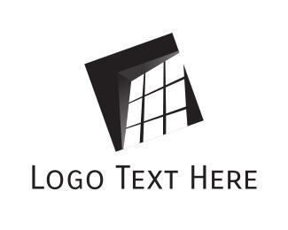 Interior Designer - Black Window logo design