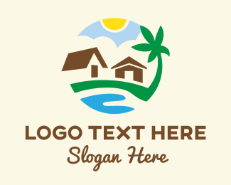 Relaxing - Beachfront Beach House logo design