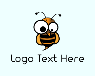 Bumblebee - Crazy Wasp logo design
