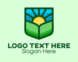 Landscaping - Sunrise Landscape Shield logo design