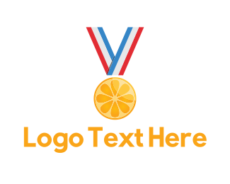 Achievement - Citrus Medal logo design