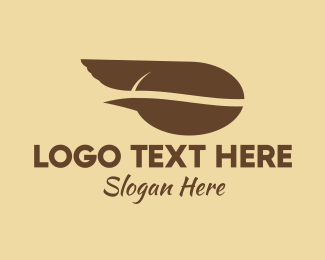 Instant Coffee - Fast Coffee Bean logo design