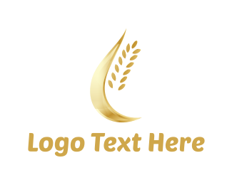 Wheat - Golden Wheat logo design