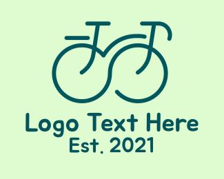 Bike Tour - Infinity Line art Bike logo design