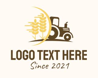 Driver - Farm Tractor Vehicle logo design