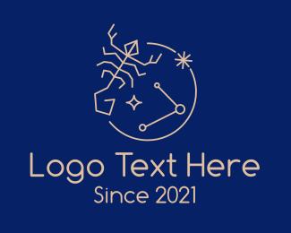 Cosmos - Scorpio Constellation Zodiac  logo design