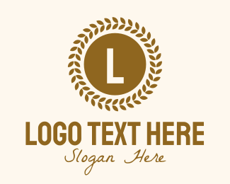 Wheat Flour - Wheat Grain Lettermark logo design