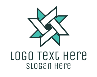 Point - Ninja Turquoise Star logo design