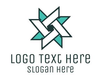 Public Relations - Ninja Turquoise Star logo design