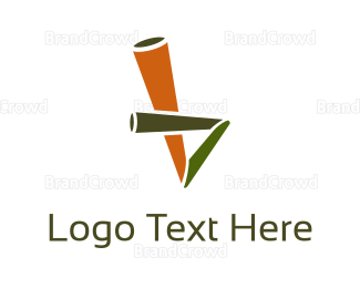 Bamboo - Eco Straw logo design