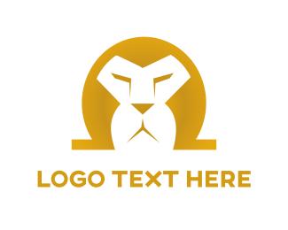 Mane - Omega Lion logo design