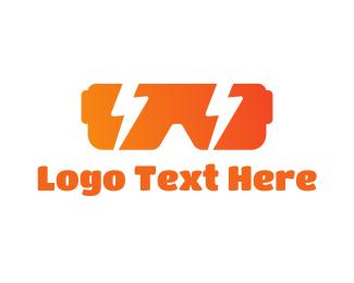 Vr - Electric VR Gaming logo design