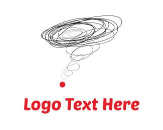 Idea - Brainstorming & Red Dot logo design