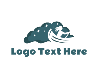 Row - Night Rowboat Boat logo design