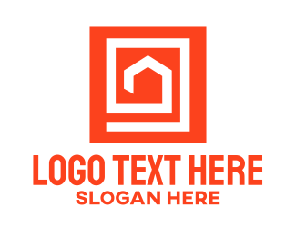 Red House - Abstract House Square logo design