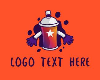 Youth - Graffiti Spray Paint Mascot logo design