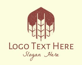 Handmade - Rustic Wheat Grains logo design