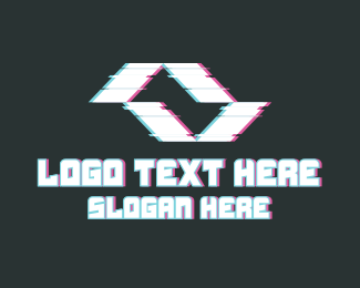 Pubg - Abstract Movement Glitch logo design