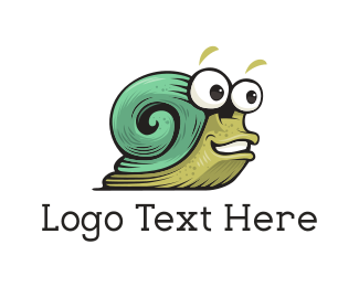 Green Insect - Green Snail logo design