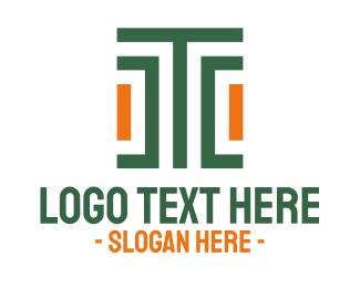 Fabric - Modern Stroke Pattern Letter T logo design