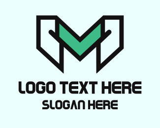 Video Game - Gaming Letter M logo design