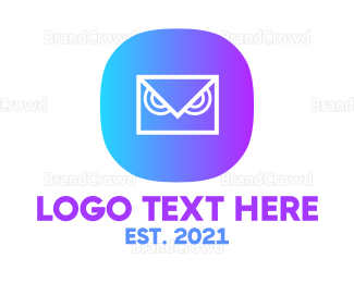 Data Transfer - Messaging Owl App logo design