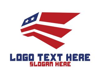 Aviation - Abstract American Aviation logo design