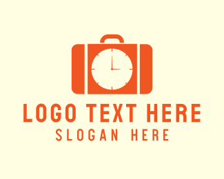 Travelling - Working Hours Briefcase logo design