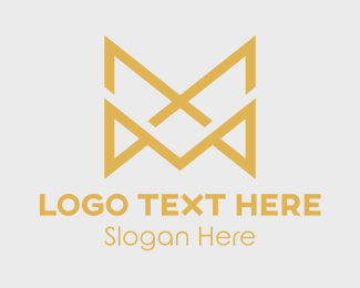 Wedding Photographer - Gold Double Letter M logo design
