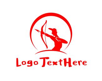 Hunter - Red Archer logo design