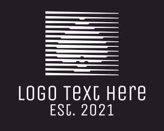 Poker - White Spade Stripe logo design