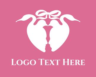 Engagement - Wedding Doves logo design