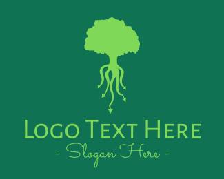 Root - Green Roots logo design