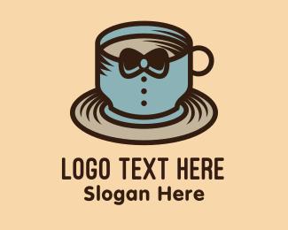 Tuxedo - Tuxedo Coffee Cup logo design