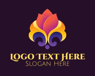 Aromatherapy - Lily Flower Yoga Salon logo design
