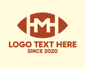 Gridiron - Gridiron American Football Letter M logo design