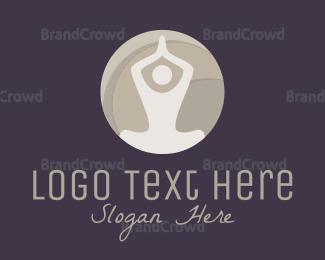 Burning Man - Yoga Circle logo design