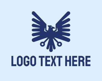 Clan - Blue Eagle Crest logo design