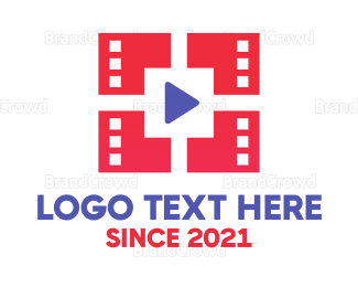 Video Player - Youtube Video logo design