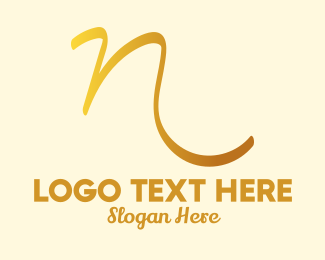 Scribble - Polished Scribble Letter N logo design