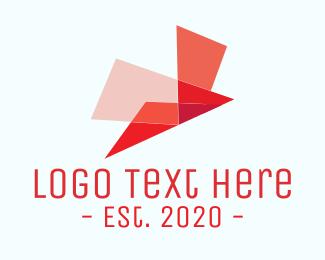 Red Bird - Origami Red Bird logo design
