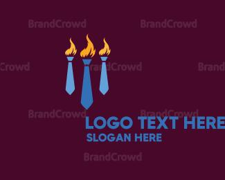 Work - Tie & Torch logo design