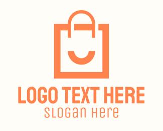 """Orange Smile Shopping Bag"" by RistaDesign"