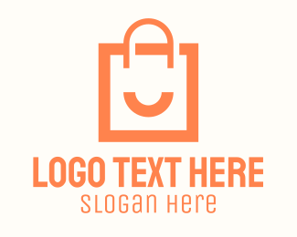 Smile - Orange Smile Shopping Bag logo design