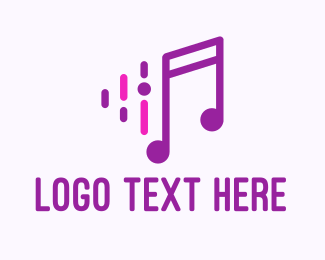 Vocal Lessons - Purple Music Note logo design